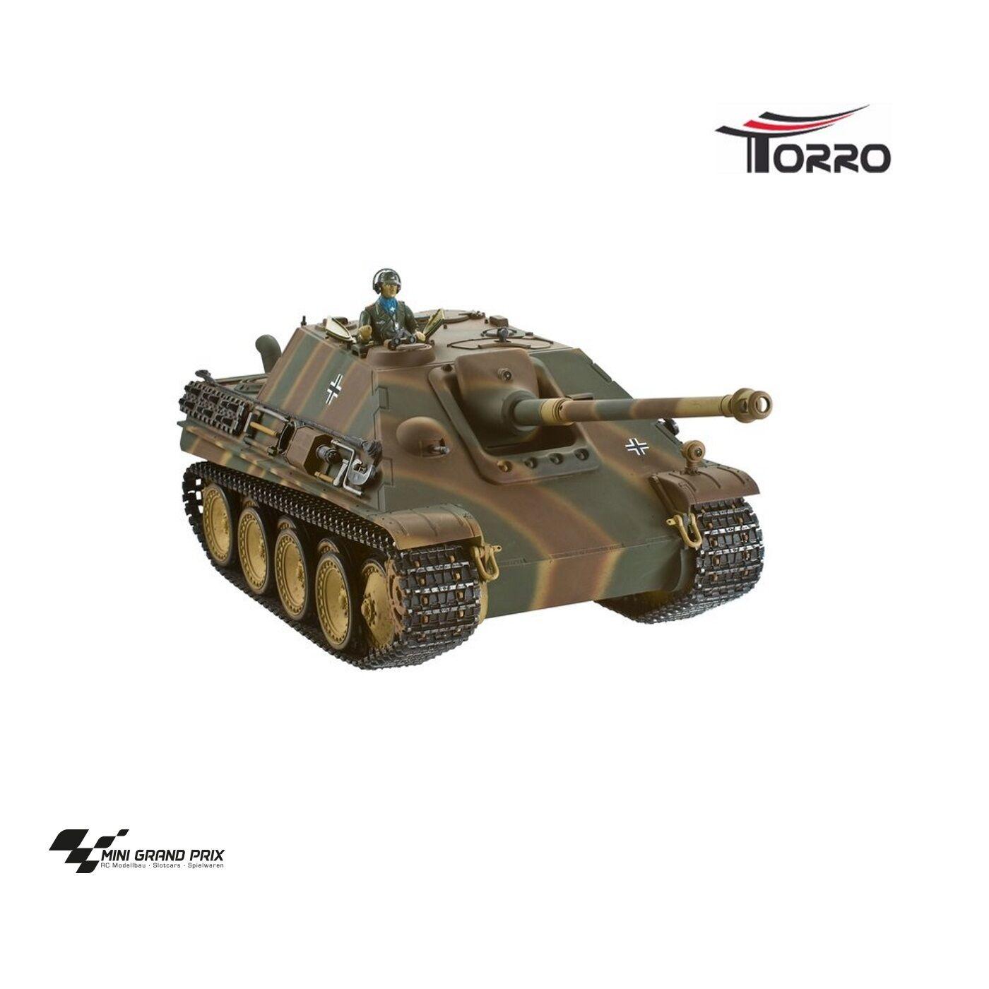 Torro 1:16 RC Jagdpanther professionale versione metallica BB CON SCATOLA