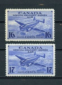 Canada MH #CE1-2 Air Mail Special Delivery 1942-43 Lovely Centering  G706