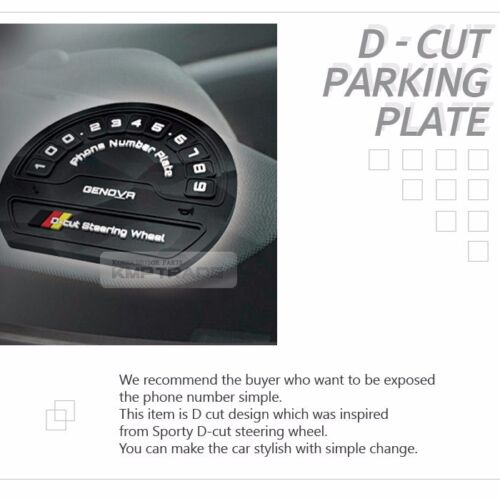 Car Accessory D-cut Parking Notification Phone Number Plate for all Vehicle