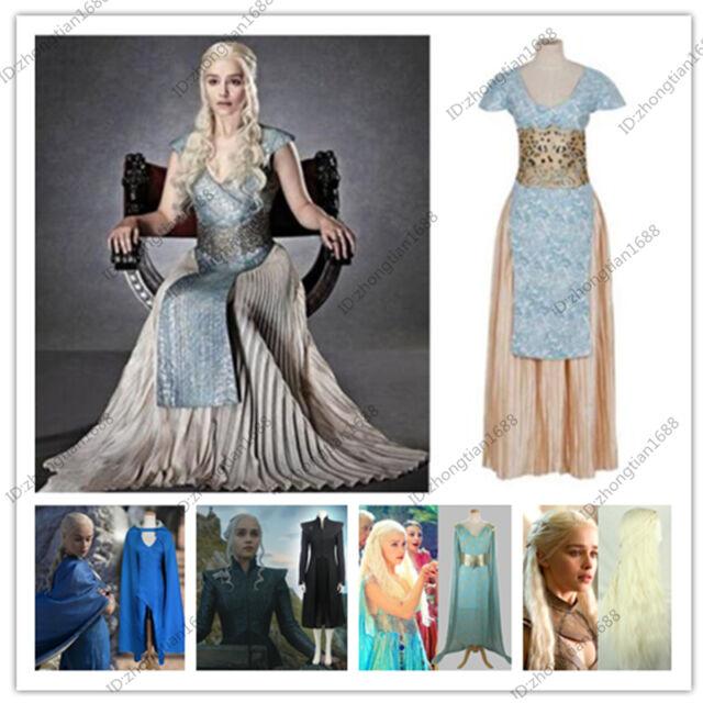 New Game of Thrones Daenerys Targaryen Halloween Costume Femme Cosplay