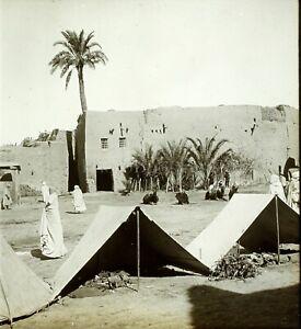 MAGHREB-ALGERIE-Sidi-Okba-ca-1910-Photo-Stereo-Vintage-Plaque-Verre-VR3L2