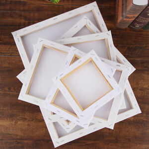 """10/""""x8/"""" Blank Artist Canvas Art Board Painting Stretched Framed White 100/% Cotton"""