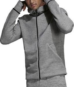 feafec8501b Image is loading adidas-Z-N-E-Fast-Release-Mens-Hoody-Grey