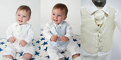 Baby Boys 4 Piece Christening Outfit / Christening Suit Check Online Discount