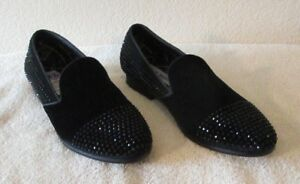 55edf3f059b Details about NEW Steve Madden Clarity Mens Studded Loafers Shoes 8.5 Black  MSRP$125