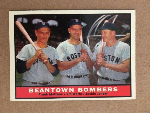 1961 Topps #173 Beantown Bombers Baseball Card NM ...