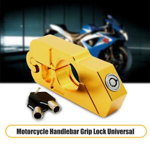 Oro-Lucchetto-Blocca-da-Manubrio-Leva-Freno-Moto-Antifurto-Protezione-Universale