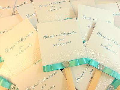 Aggressivo 50 Ventagli Personalizzati Sposa, Matrimonio, Wedding, Comunione