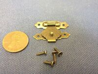 1x Hinge 20 X 30 Small Mini Doll House Antique Latch Hook Carved Wood Box C12