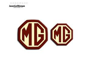 MG-ZT-T-LE500-Estate-Front-Rear-Emblem-Badge-Insert-59mm-45mm-Burgundy-amp-Cream