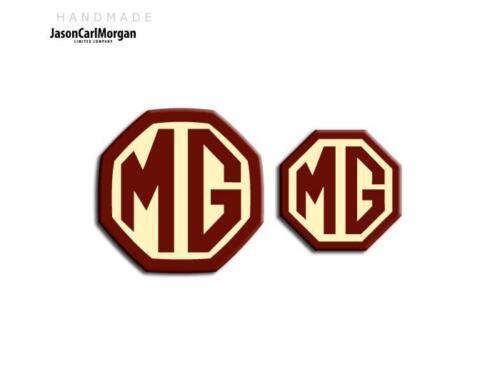 MG ZT-T LE500 Estate avant arrière Emblème Badge Insert 59 mm 45 mm bordeaux et crème