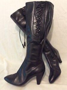 à cuir du Bottes 5 genou noire en taille Clarks 5d hauteur gxq55ECf