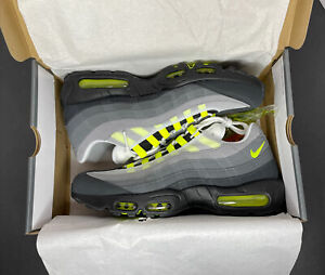 Details about Nike Air Max 95 OG Black/Neon Yellow-LT Graphite 2020 Men's  Size 12 Deadstock
