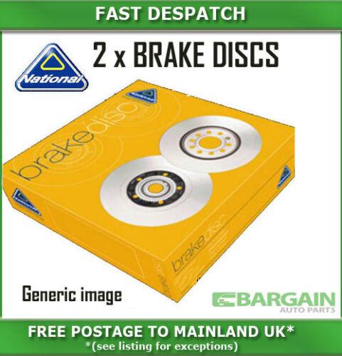 REAR BRAKE DISCS FOR VAUXHALL NBD926