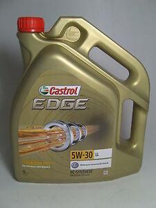 castrol edge 5w 30 ll vw 504 00 mb freigabe 5 liter ebay. Black Bedroom Furniture Sets. Home Design Ideas