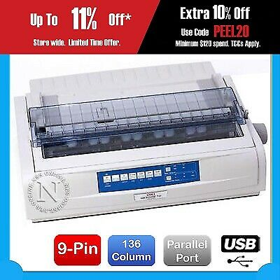 OKI MicroLine ML-721 9 Pins USB Parallel 136 Column Wide Dot Matrix Printer