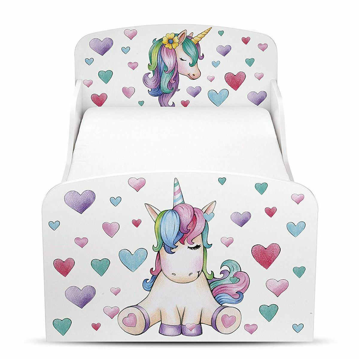 Unicorn HEARTS TODDLER Bed blanc Enfants Filles