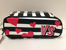 NEW! VICTORIA'S SECRET VS HEARTS SMALL COSMETIC MAKEUP TRAVEL POUCH BEAUTY BAG
