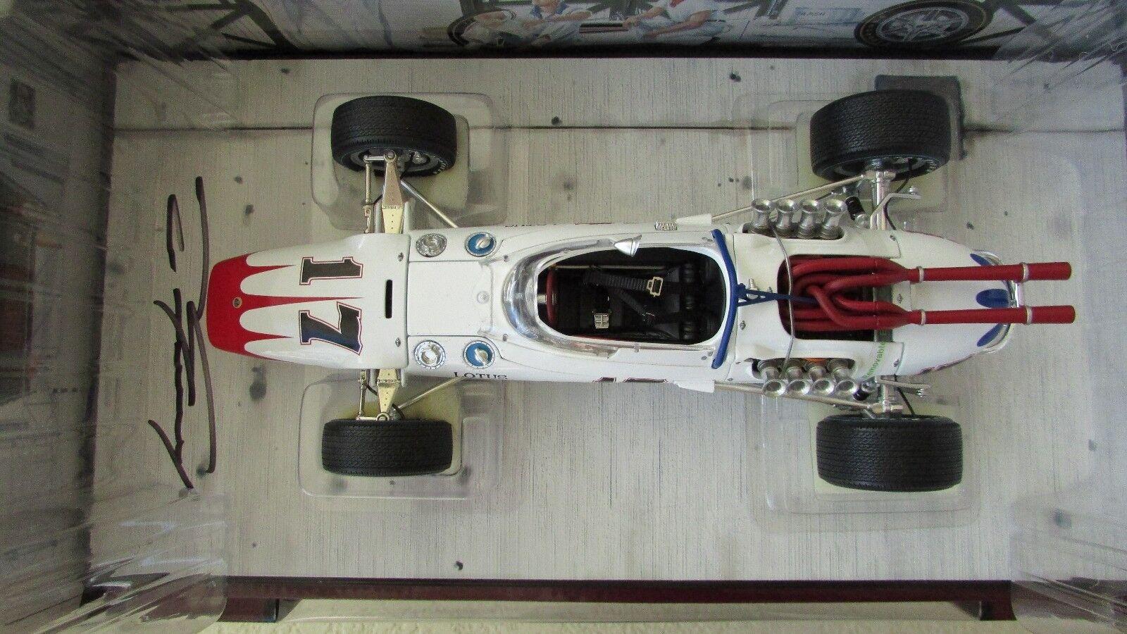 1 1 1 18 Carousel 1 Dan Gurney SIGNED Indy 500 race car Lotus 38 Ford 1965 boxs COA e74816