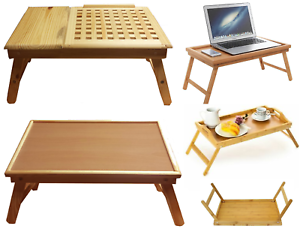 Wooden-Lap-Tray-Table-Serving-Breakfast-Desk-Laptop-TV-Sofa-Bed-Table-Folding