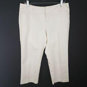 New-York-amp-Company-Stretch-White-Capri-pants-Size-10-Average