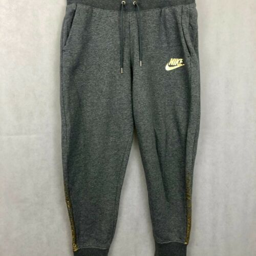Vintage Nike Sweatpants XLarge Mens Gray Gold Spel
