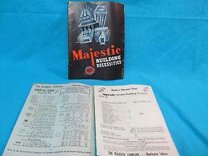1949 MAJESTIC CO BULIDING NECESSITIES DEALER CATALOG & PRICE LIST