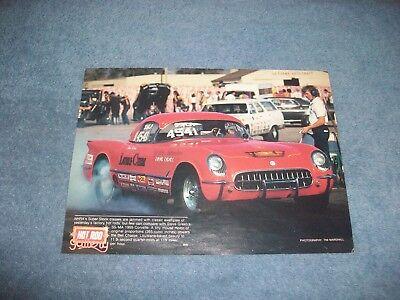 1955 Chevy Corvette Super Stock Drag Vintage Magazin Bild