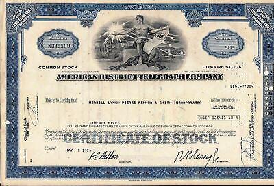 4 - American District Telegraph Company.Stock Certificates