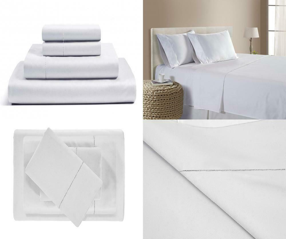 500 Thread Count Cotton Sheets Set - 100% Pima Full, Weiß (Solid)