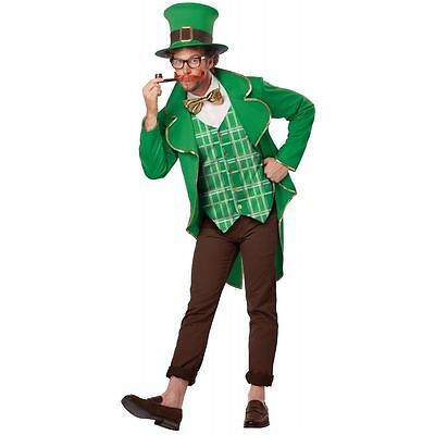 ADULT MENS LUCKY LEPRECHAUN IRISH ST PATRICKS DAY CHARM HALLOWEEN COSTUME  S-XXL