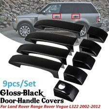 For Land Rover Range Vogue L322 2002-09 9Pcs Black ABS Door Handle Covers Trim