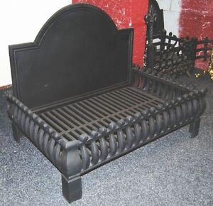large cast iron dog grate fireplace fire grate fire basket andiron rh ebay com