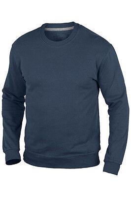 Hanes Plain BLACK 100/% Organic Cotton Sweatshirt Jumper Sweater S-XXXL
