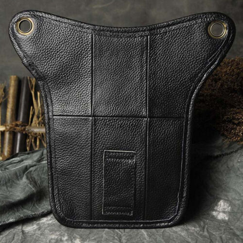 Motorcycle Rider Vintage Leather Drop Leg Bag Outdoor Thigh Waist Hip Fanny Pack
