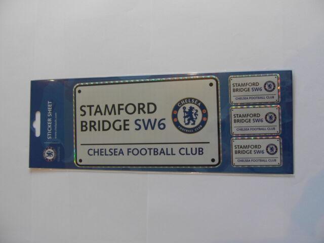 CFC-03 Chelsea Street Sign Football Sticker Sheet
