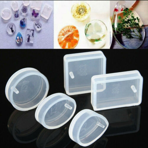 Mold for Resin Round Necklace Making Silicone Mould DIY 5 pcs