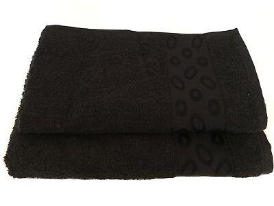 2-teiliges Handtuch-set 500 G/m2 Modell Luxury (schwarz)