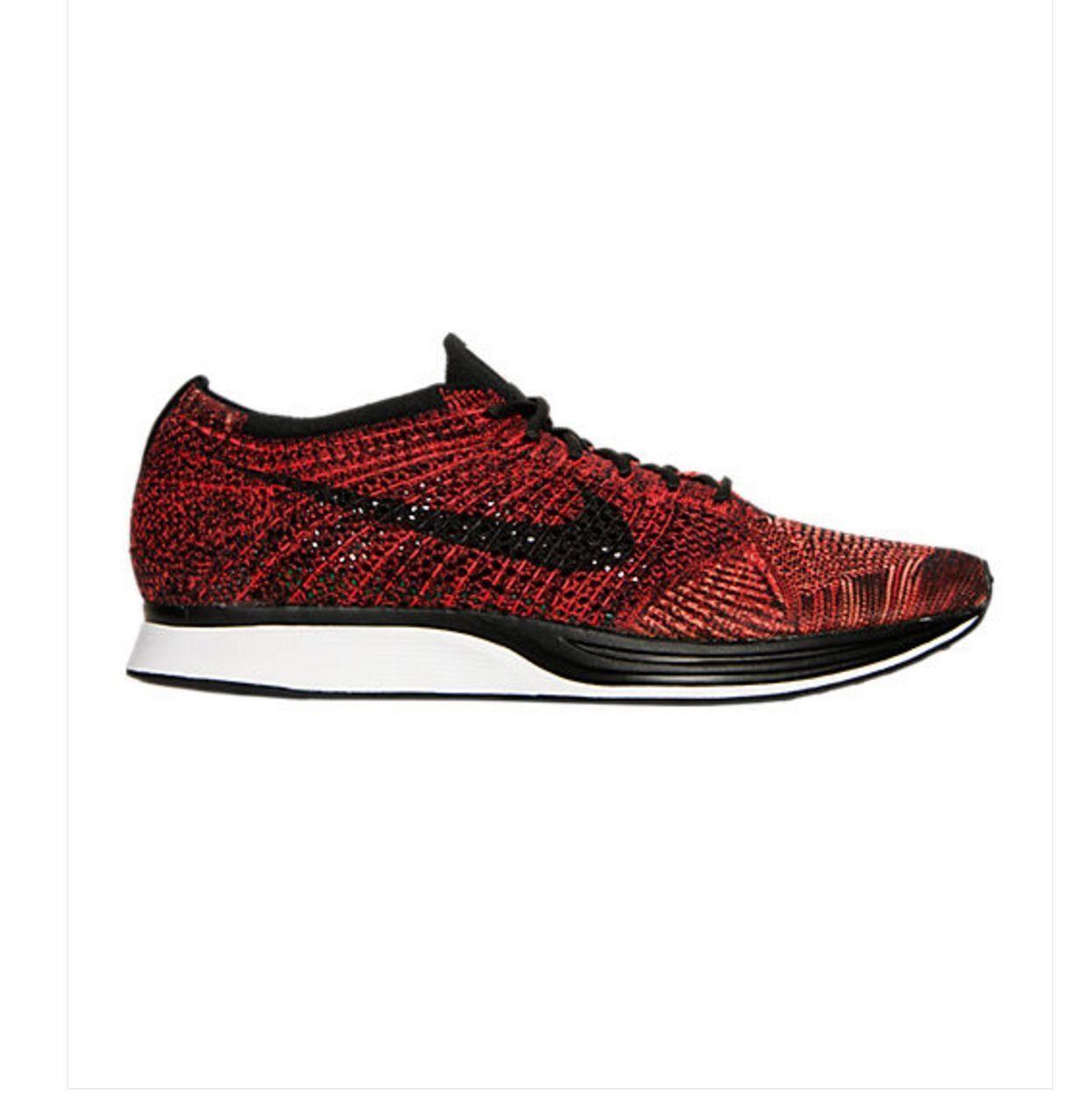Nike Flyknit Racer Running Shoes Red Black  526628-608 US MEN SZ 7 BRAND NEW