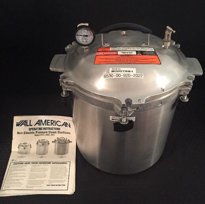 ALL AMERICAN Stovetop autoclave stérilisateur CANNER 1925X 25 QT 24 L Vapeur Basse Pression