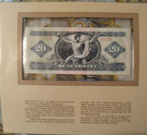 Most Treasured Banknotes Hungary 20 Forint 1975 UNC P 169f Serie C277