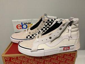 1ddc5714fe9ba1 Image is loading Vans-SK8-Hi-Reissue-Checkerboard-Cap-Deconstructed-White-