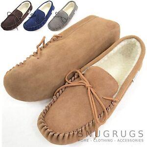 Ladies   Womens Genuine Suede Moccasin Sheepskin Wool Slipper Soft ... 1eb85bbbcad