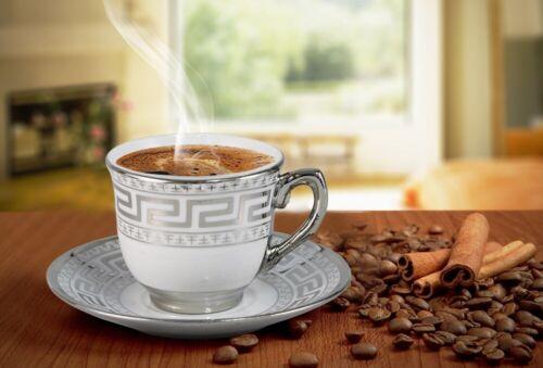 Silber verziert Bavary Türkisches Kaffeetassen Set 12 Tlg