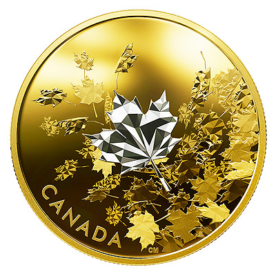 WHISPERING MAPLE LEAVES - 2017 $50 3 oz Pure Silver Coin - Royal Canadian Mint