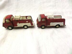 2-Vintage-1970s-TONKA-Mini-Fire-Truck-Pressed-Steel-Toys