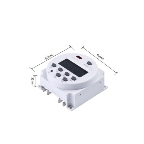 FAVOLCANO CN101 DC 12V 16A Digital LCD Power Programmable Timer Time Switch R...