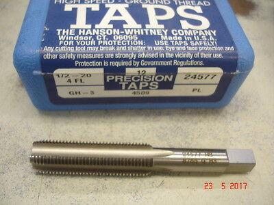new HANSON WHITNEY 1//2-13 NC H5 GH-5 3FL Plug HSS Spiral Point Tap 24146 USA