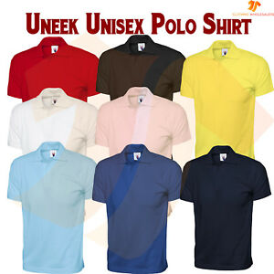 Mens Womens Soft 100% Cotton Jersey Poloshirt Casual Leisure Work Polo Shirt LOT