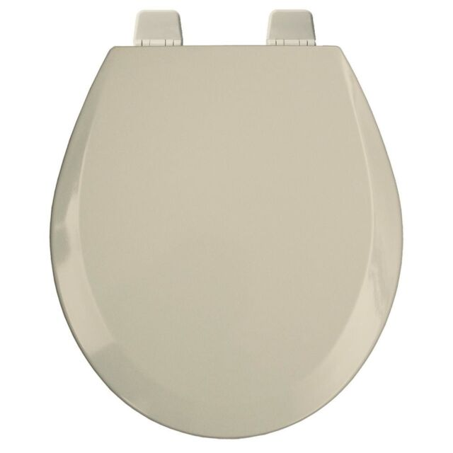 Excellent Round Open Front Toilet Seat Lid Cover Beige Wood Hardware Hinges Bumpers New Caraccident5 Cool Chair Designs And Ideas Caraccident5Info